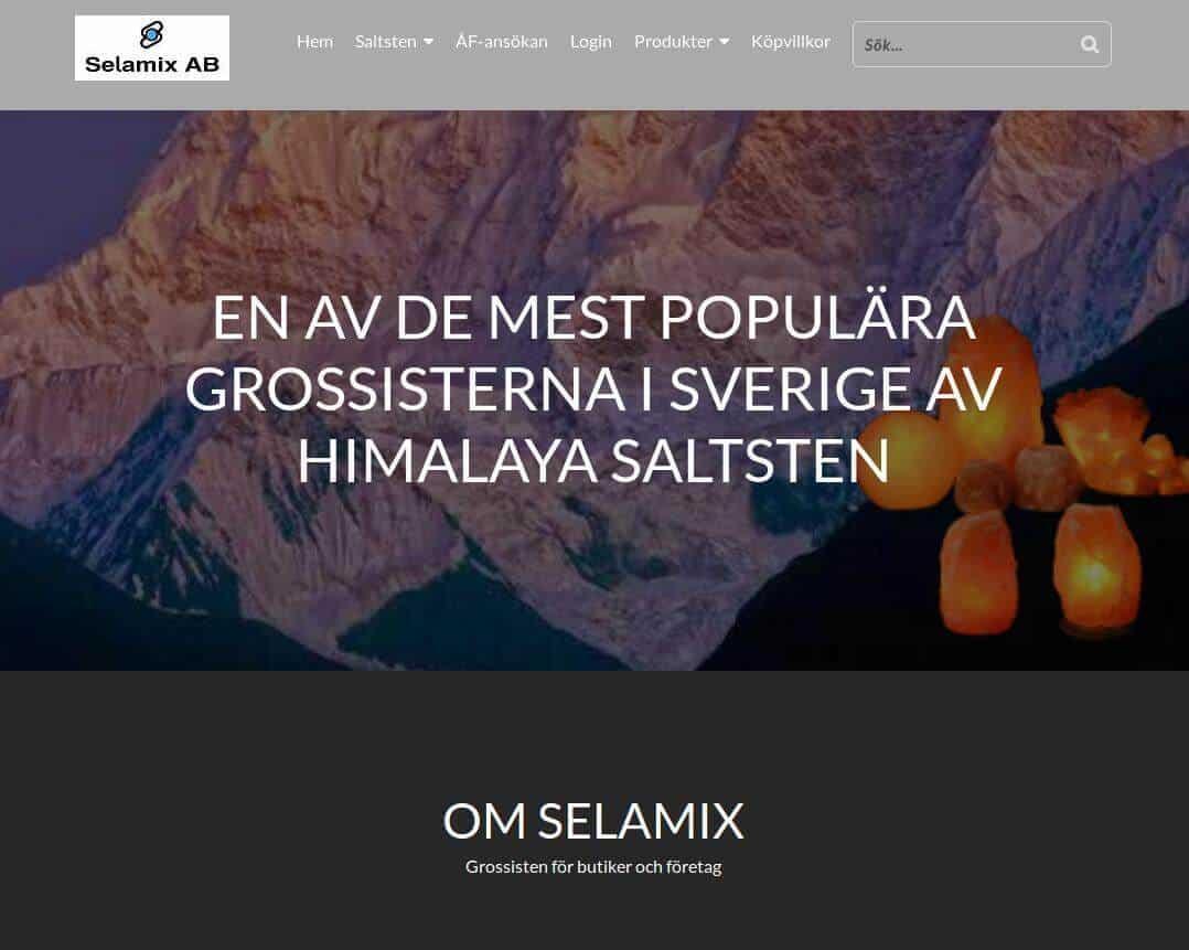 Webbsida - Selamix efter