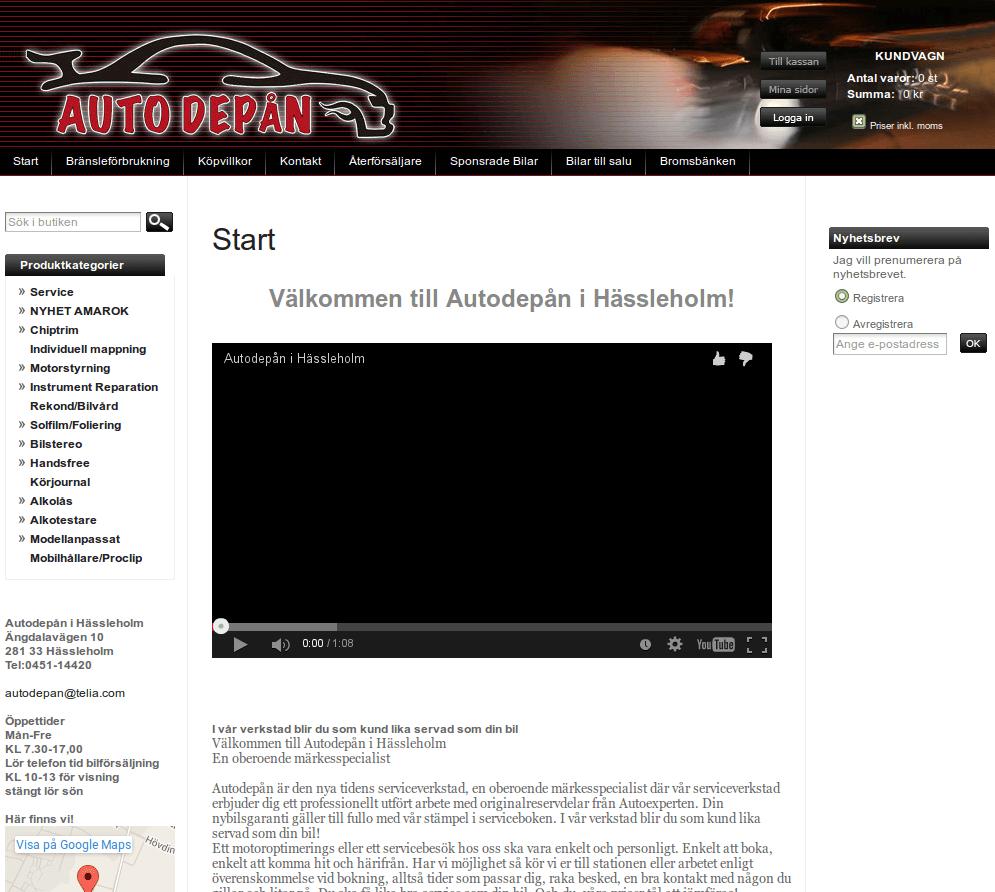 Webbsida - Autodepån Före