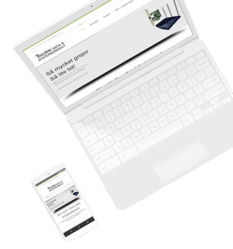 Dator med hemsida