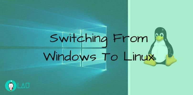 Byta från windows till linux